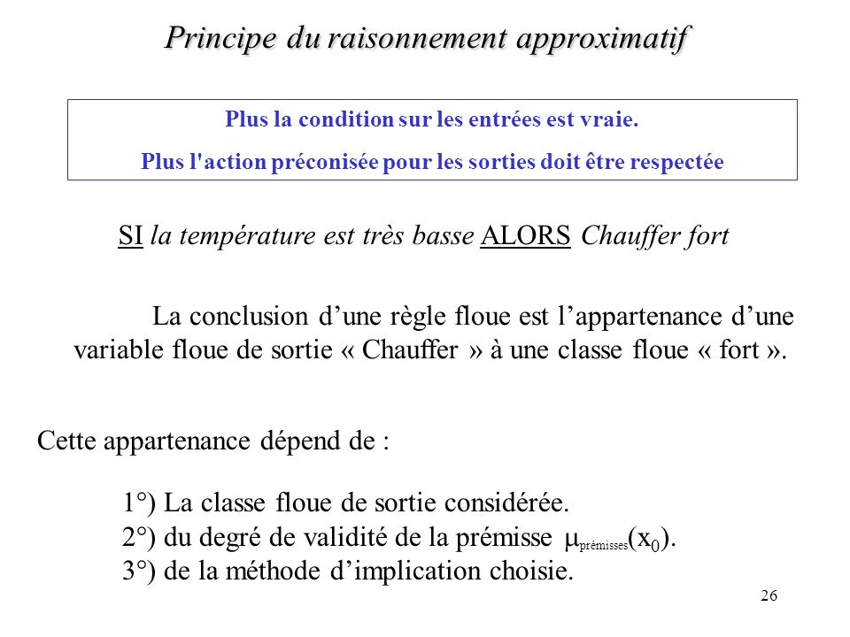 Principe du raisonnement approximatif