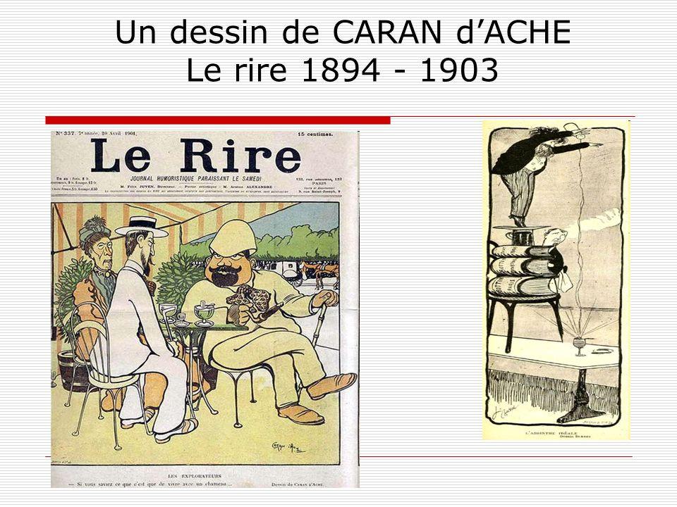 Un dessin de CARAN d'ACHE Le rire 1894 - 1903