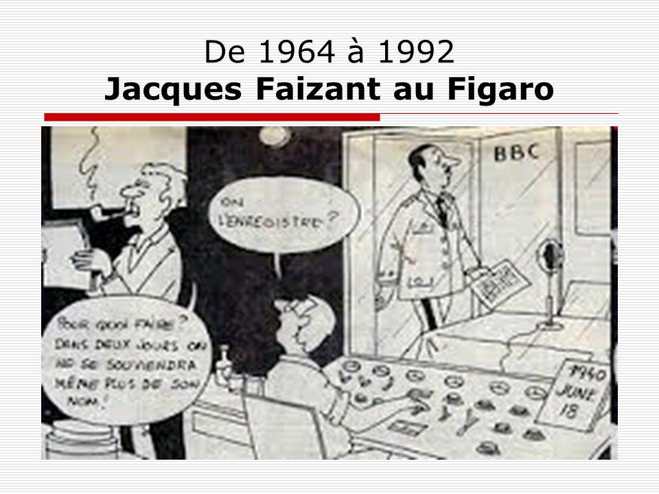 De 1964 à 1992 Jacques Faizant au Figaro