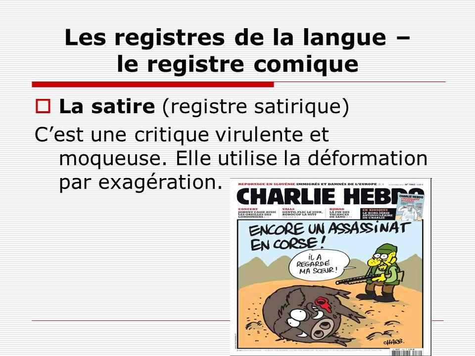 Les registres de la langue – le registre comique