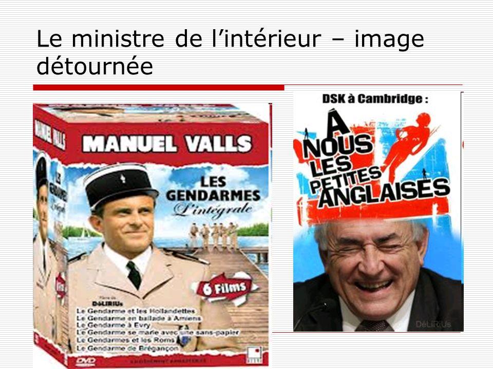 Le ministre de l'intérieur – image détournée