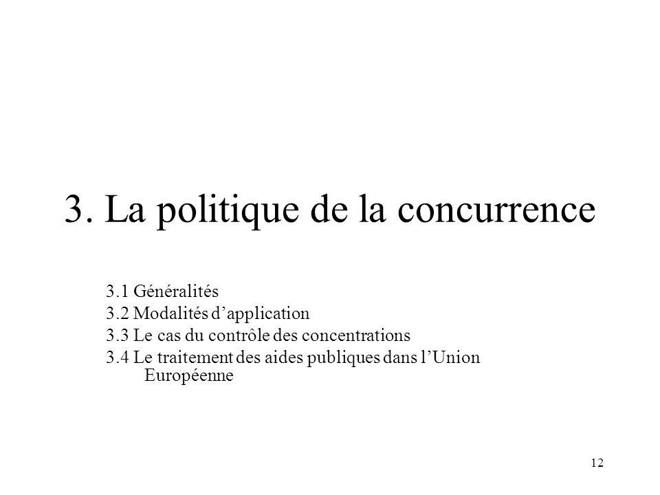 3. La politique de la concurrence