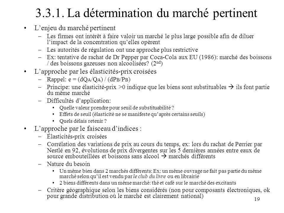 3.3.1. La détermination du marché pertinent