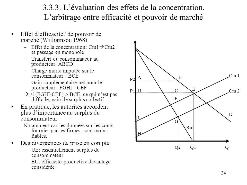 3. 3. 3. L'évaluation des effets de la concentration