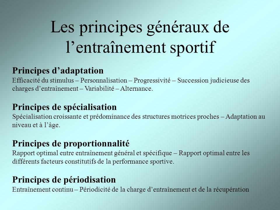 Les principes généraux de l'entraînement sportif