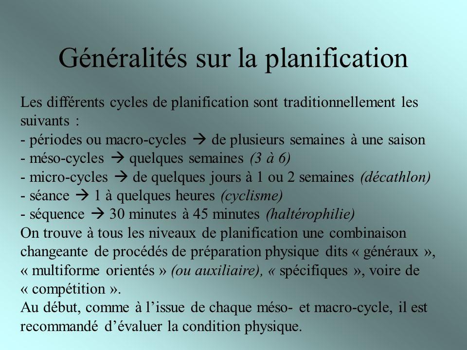 Généralités sur la planification