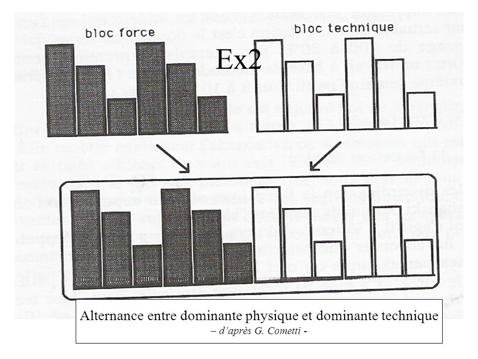 Alternance entre dominante physique et dominante technique
