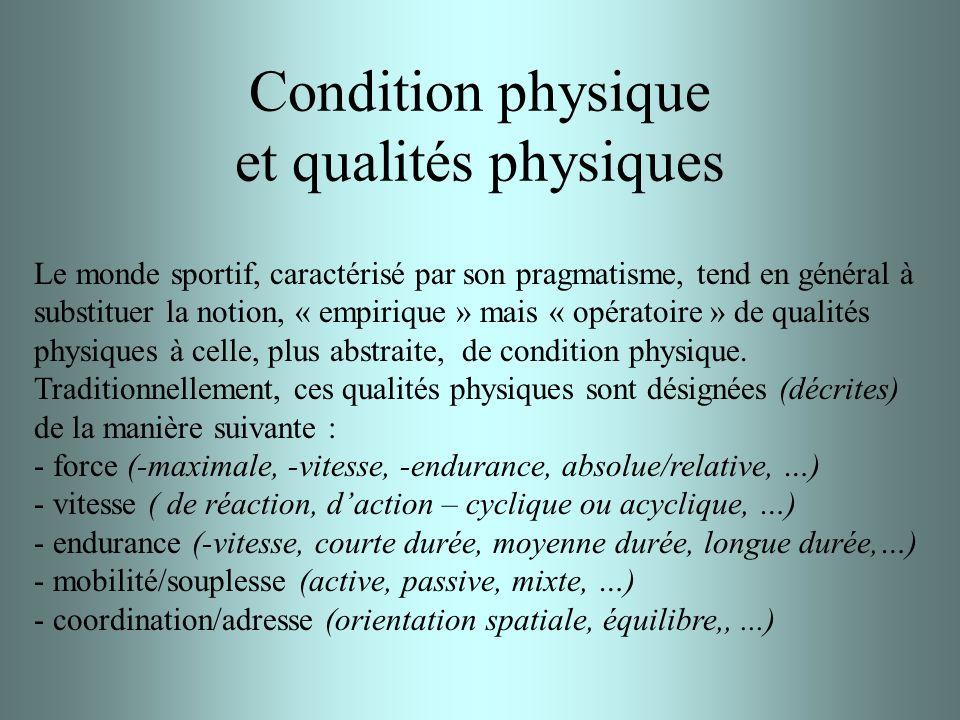 Condition physique et qualités physiques
