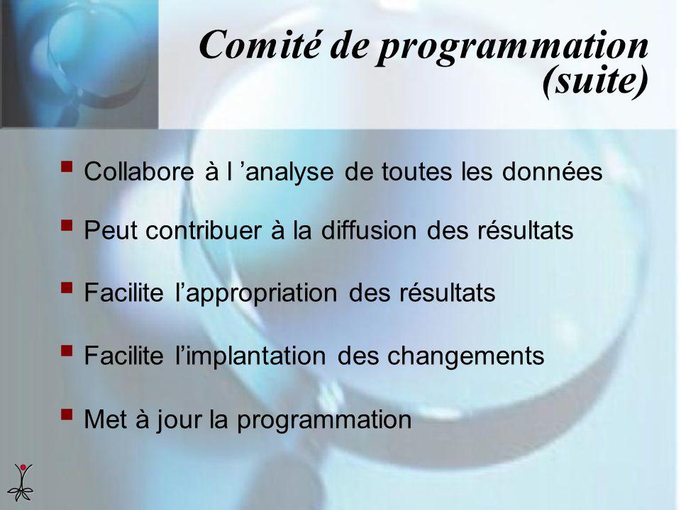 Comité de programmation (suite)