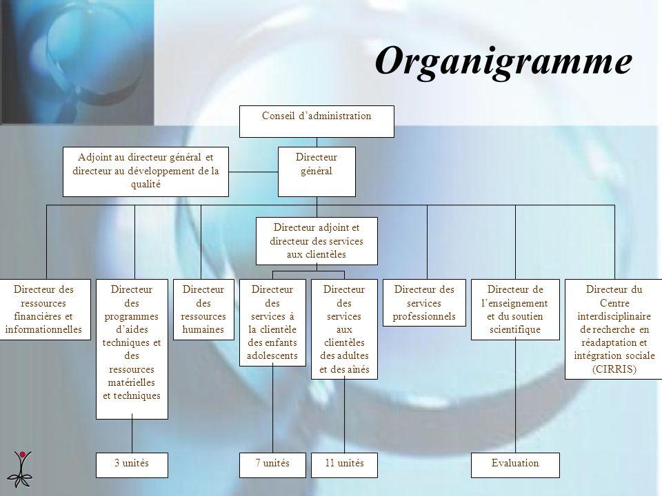Organigramme Directeur des ressources financières et informationnelles