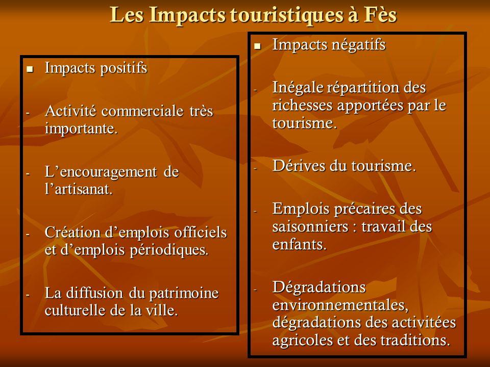 Les Impacts touristiques à Fès