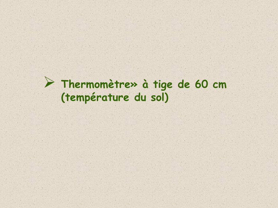 Thermomètre» à tige de 60 cm (température du sol)