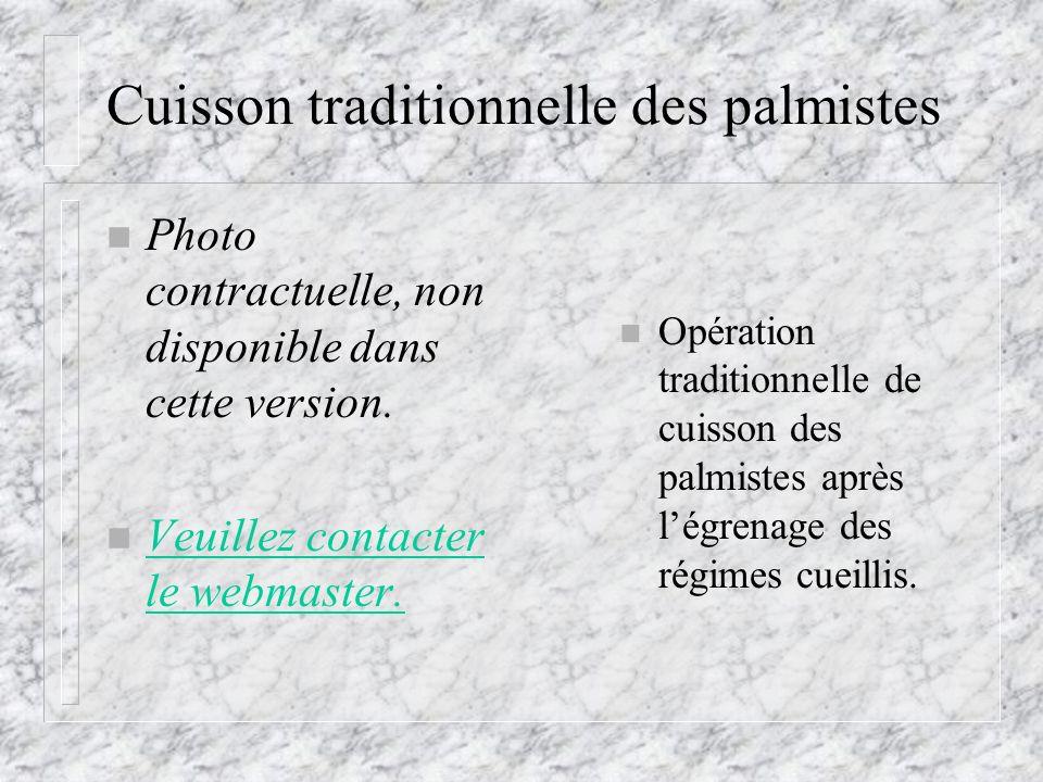 Cuisson traditionnelle des palmistes