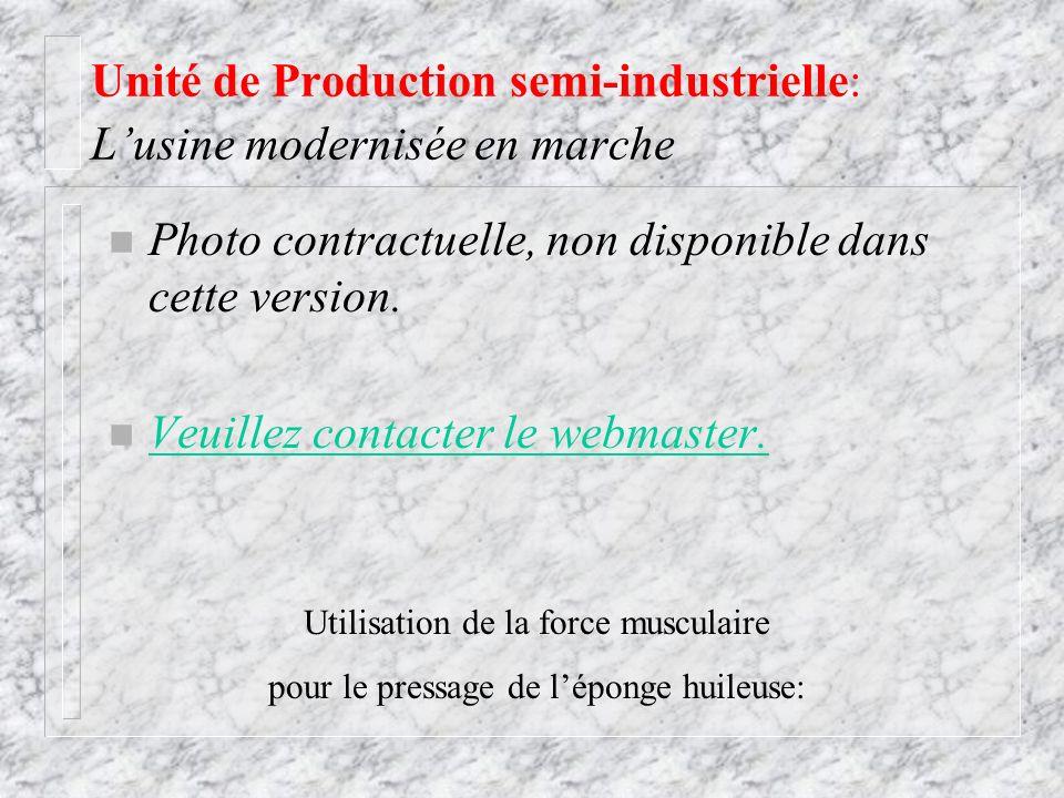 Unité de Production semi-industrielle: L'usine modernisée en marche