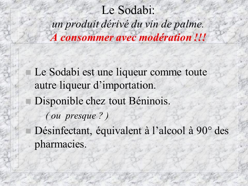 Le Sodabi: un produit dérivé du vin de palme