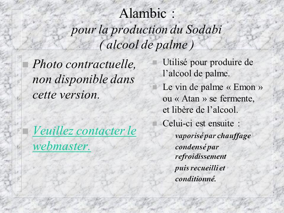 Alambic : pour la production du Sodabi ( alcool de palme )