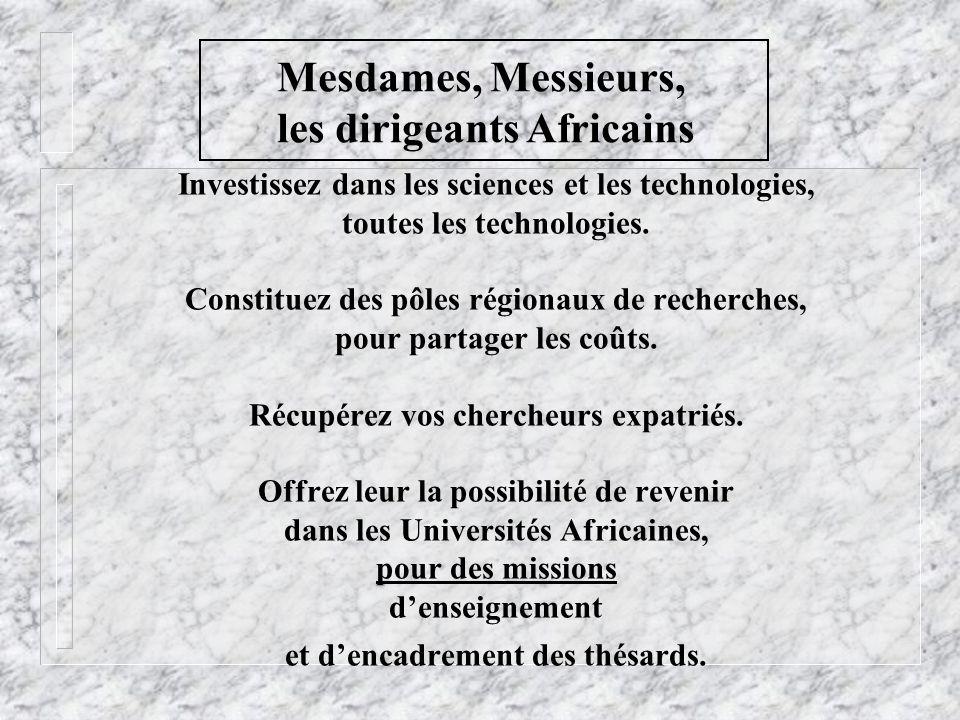 les dirigeants Africains