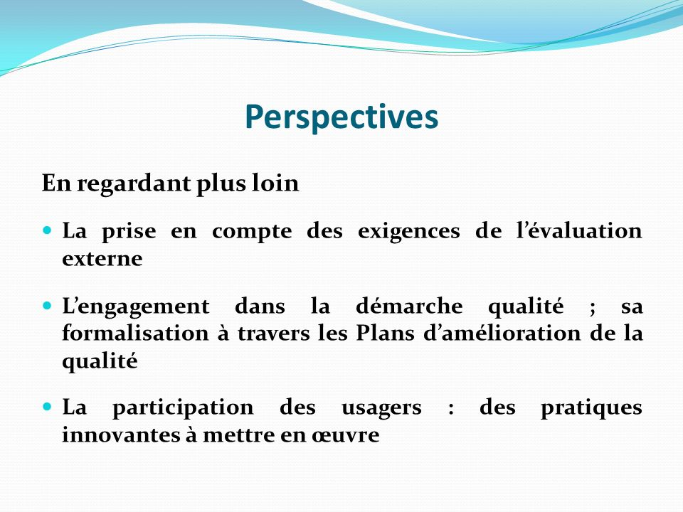 Perspectives En regardant plus loin