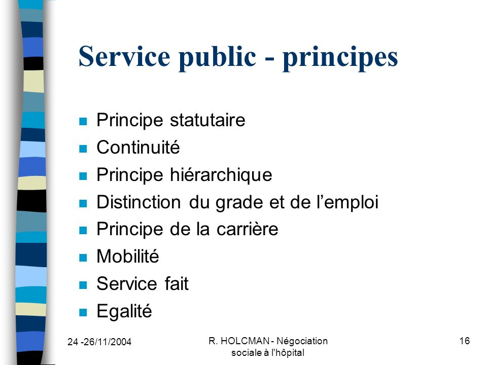 Service public - principes