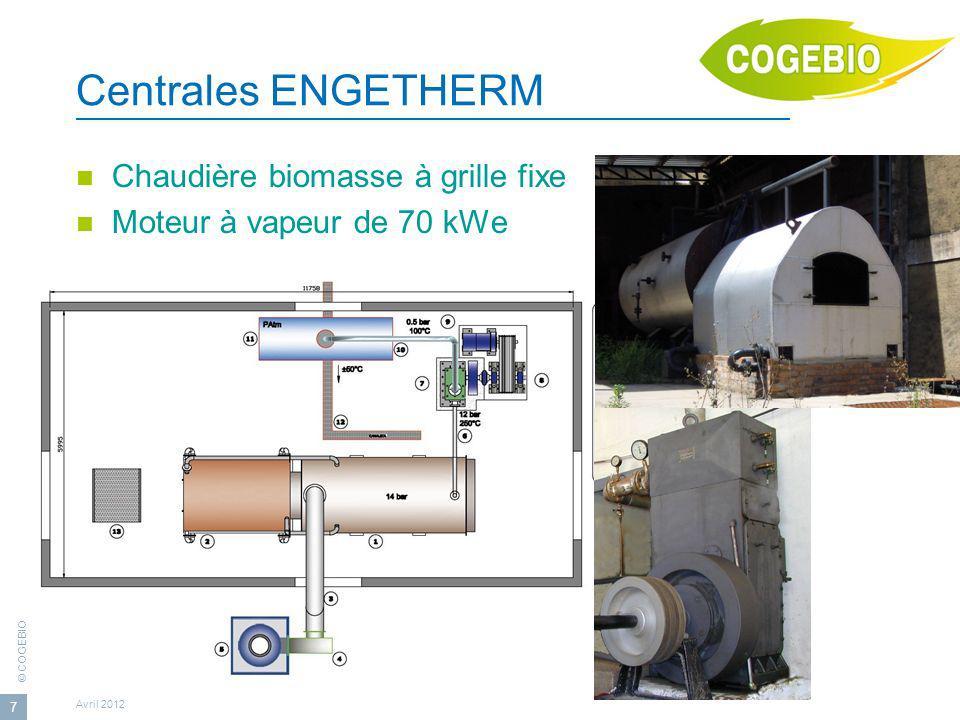 Centrales ENGETHERM Chaudière biomasse à grille fixe