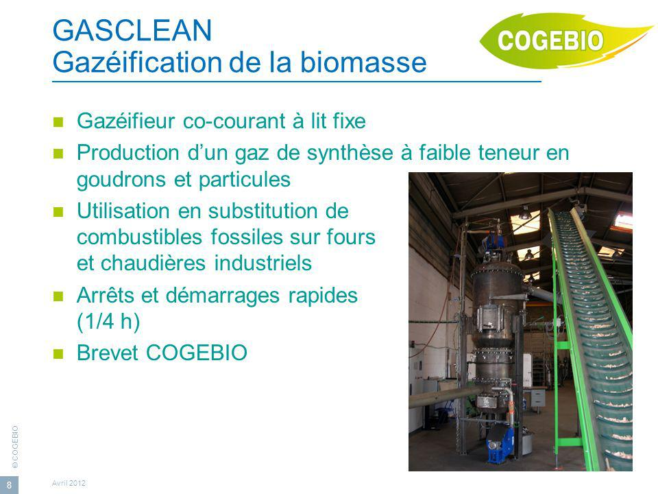 GASCLEAN Gazéification de la biomasse