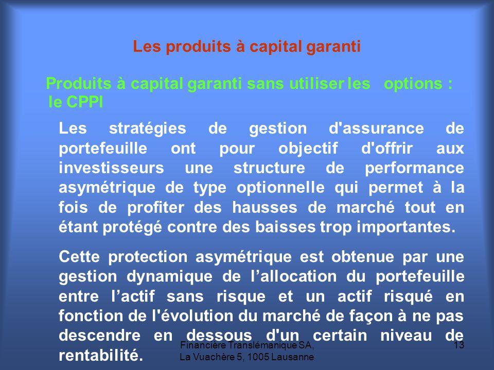 Les produits à capital garanti