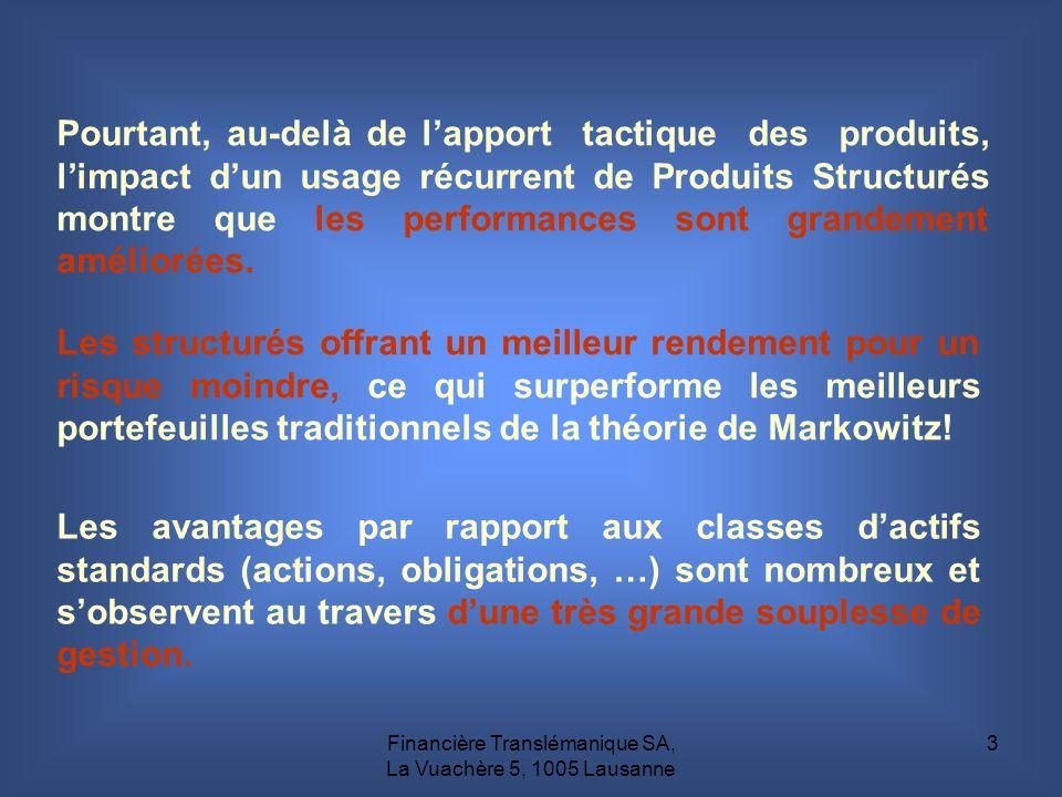 Financière Translémanique SA, La Vuachère 5, 1005 Lausanne