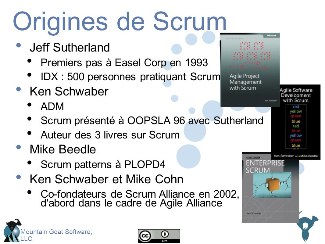 Origines de Scrum Jeff Sutherland Ken Schwaber Mike Beedle