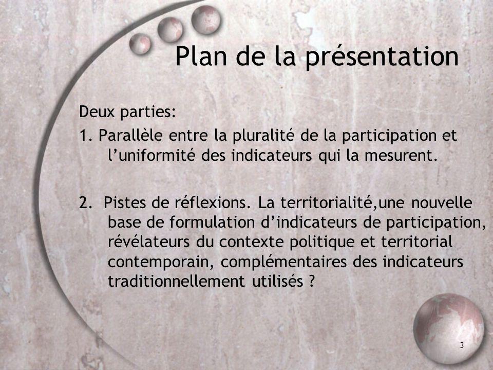 1. De la pluralité de la participation individuelle à l'échelle locale …