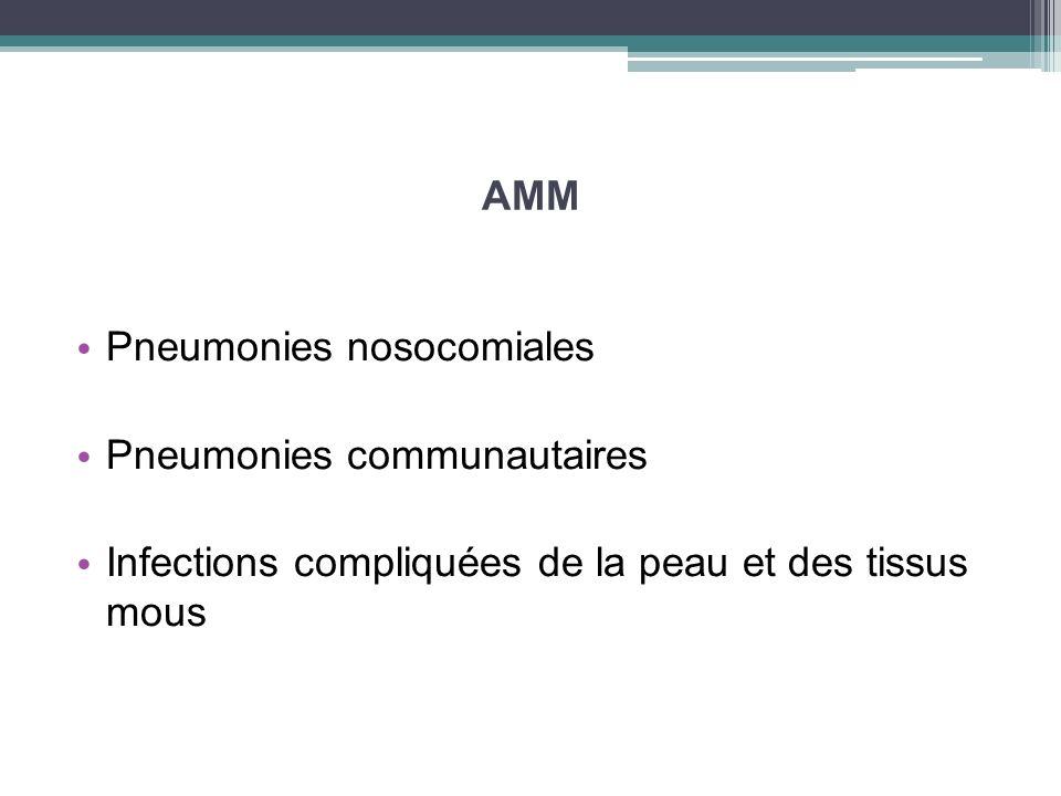 AMMPneumonies nosocomiales.Pneumonies communautaires.