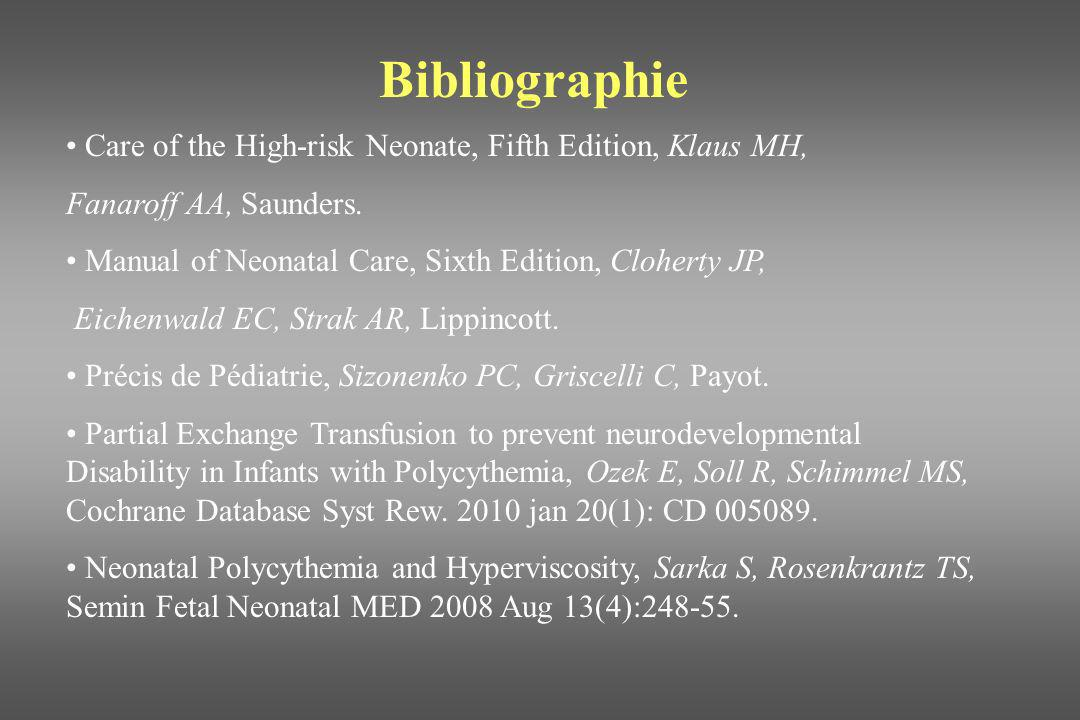 Bibliographie Care of the High-risk Neonate, Fifth Edition, Klaus MH,
