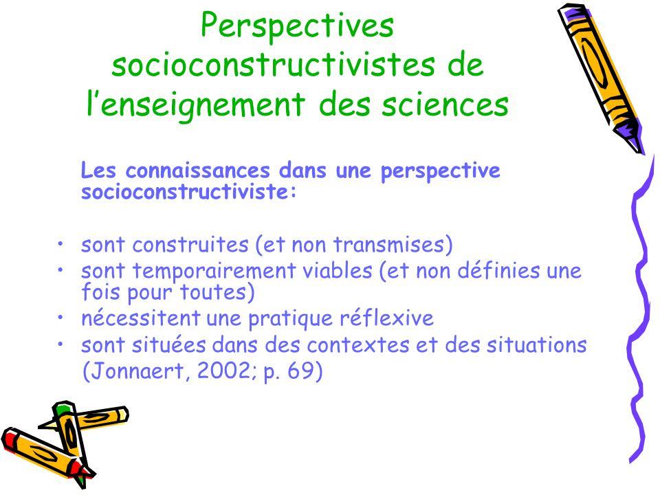 Perspectives socioconstructivistes de l'enseignement des sciences