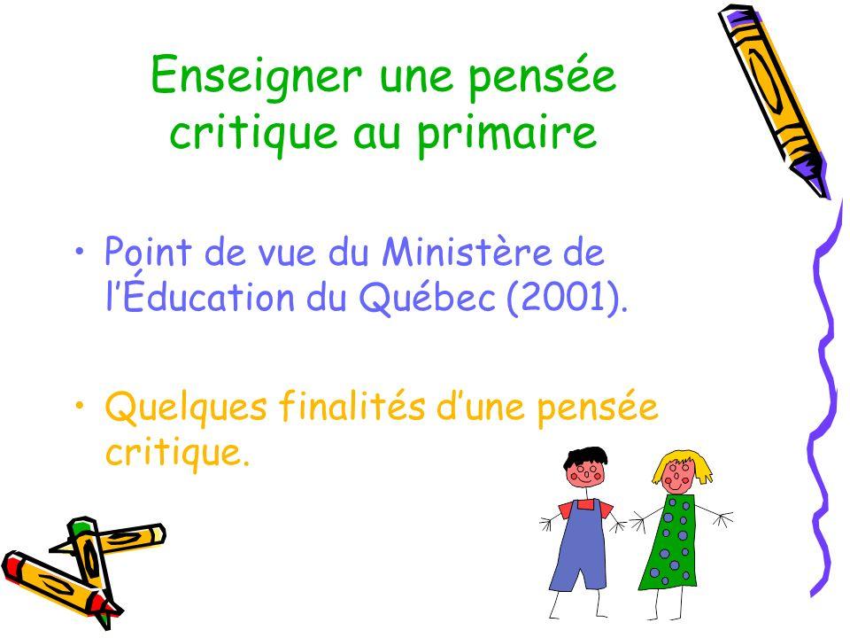 Enseigner une pensée critique au primaire