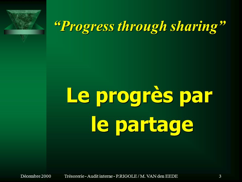 Progress through sharing