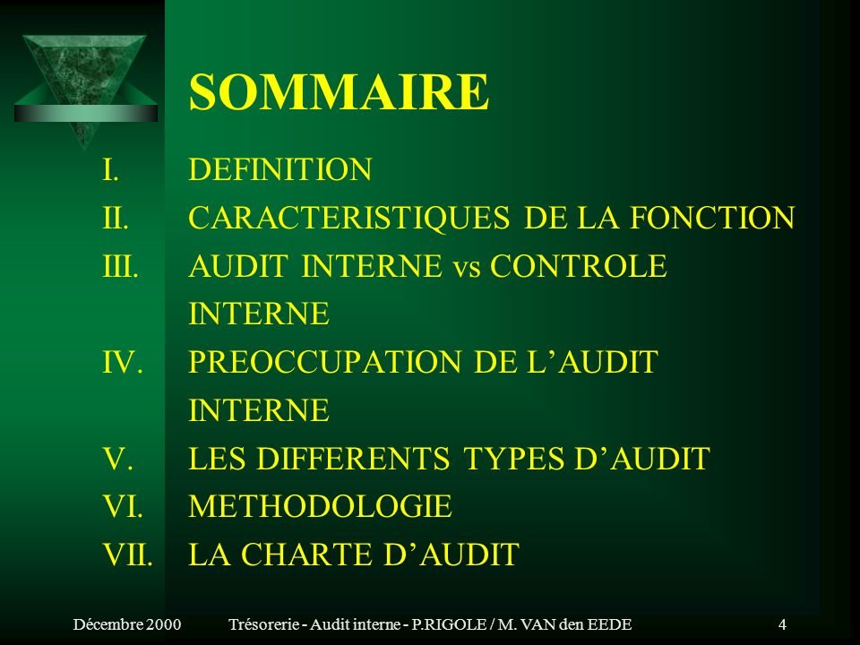 Introduction générale à l audit interne