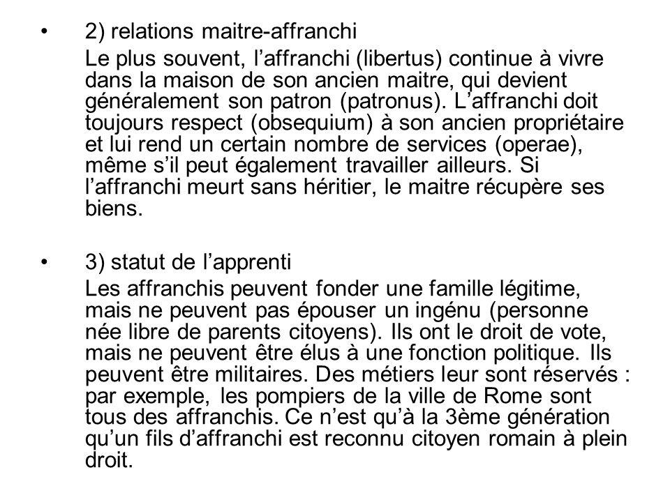 2) relations maitre-affranchi