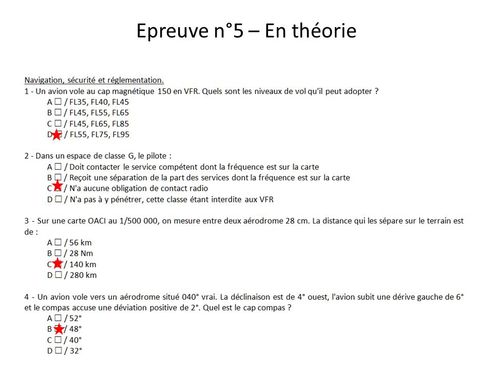 Epreuve n°5 – En théorie