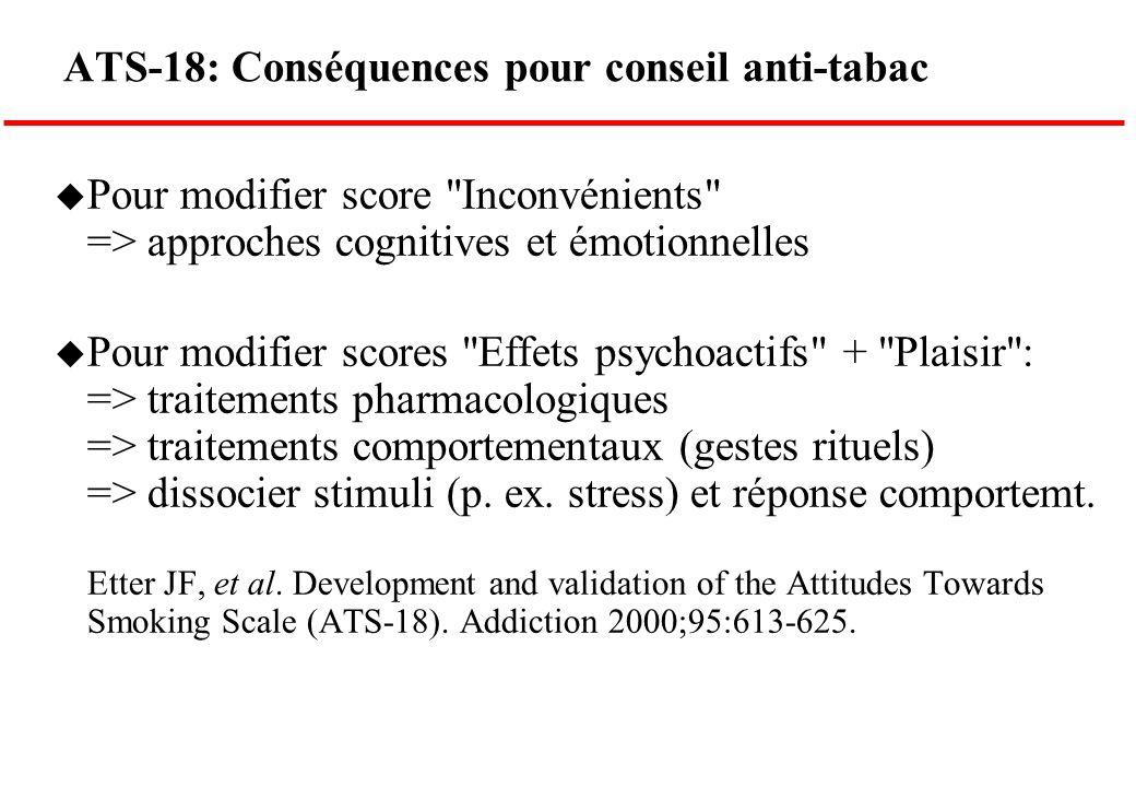 ATS-18: Conséquences pour conseil anti-tabac