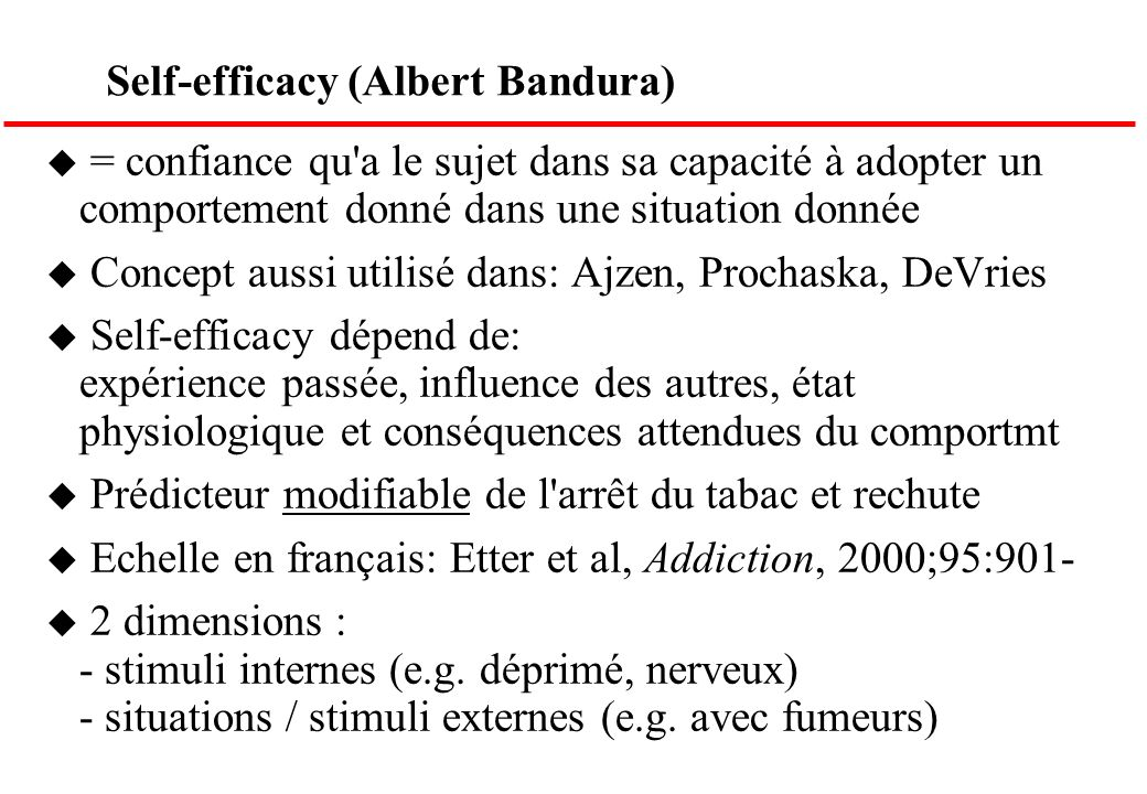 Self-efficacy (Albert Bandura)