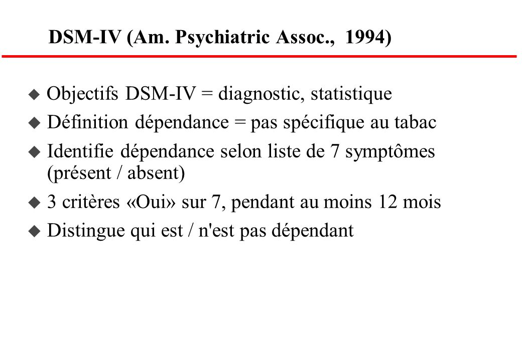 DSM-IV (Am. Psychiatric Assoc., 1994)
