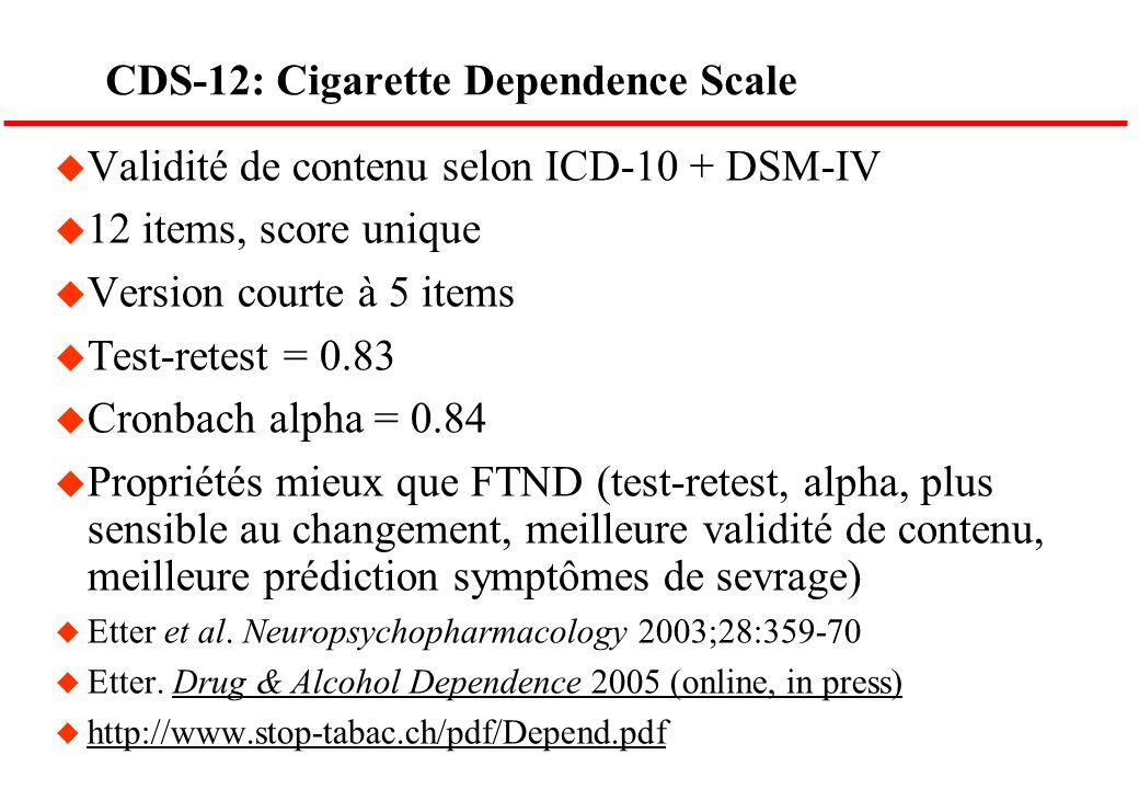 CDS-12: Cigarette Dependence Scale