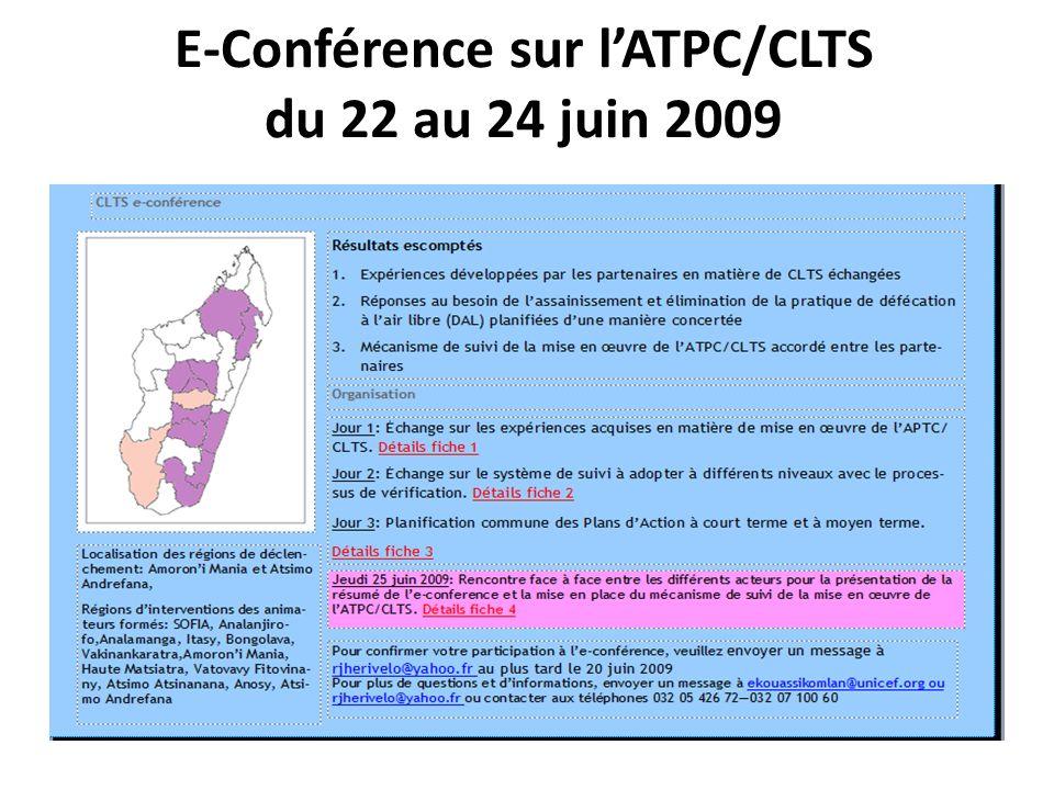 E-Conférence sur l'ATPC/CLTS du 22 au 24 juin 2009
