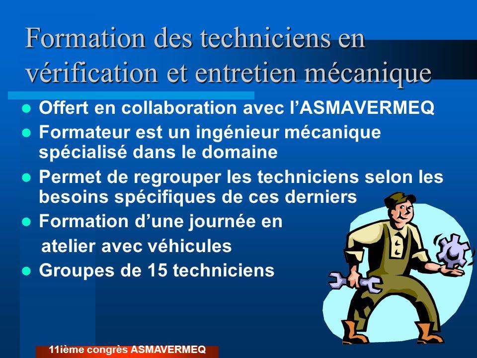 Formation des techniciens en vérification et entretien mécanique