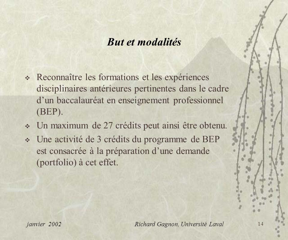 janvier 2002 Richard Gagnon, Université Laval