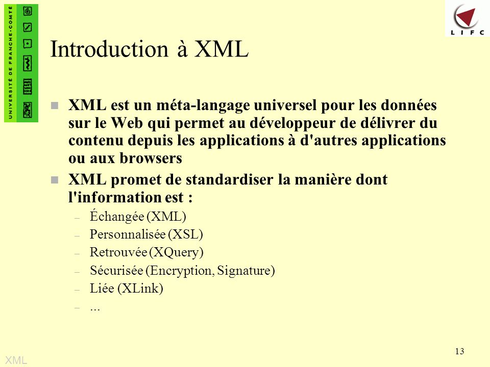Introduction à XML