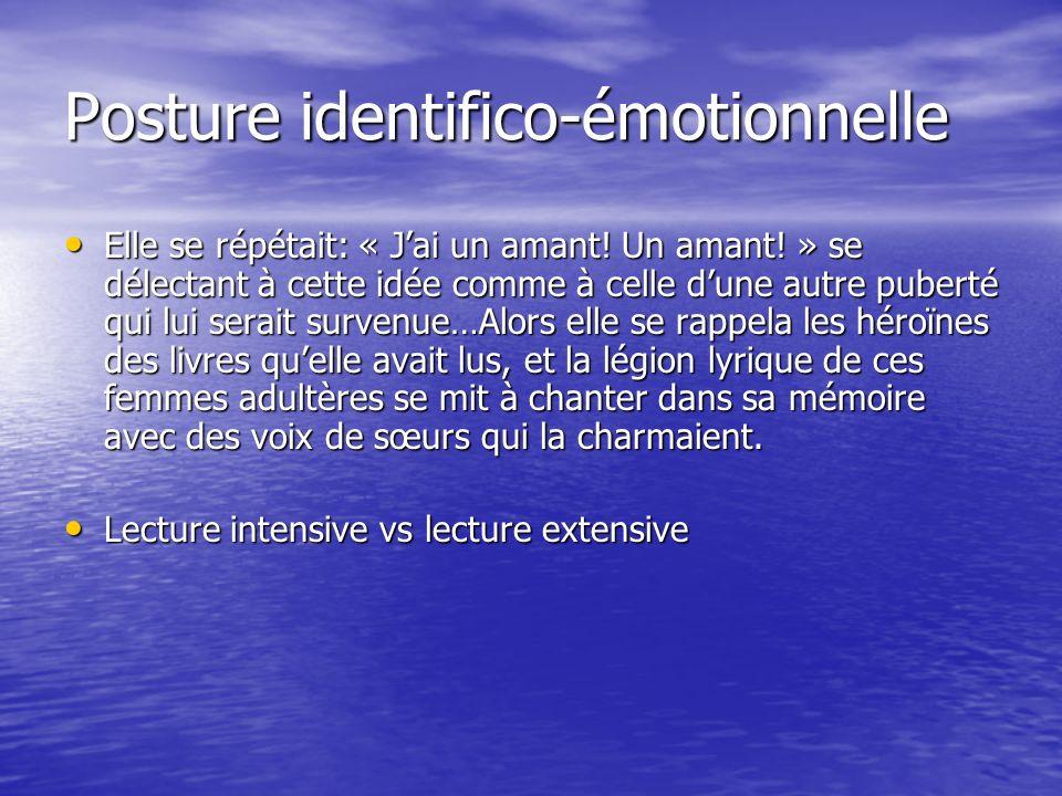 Posture identifico-émotionnelle