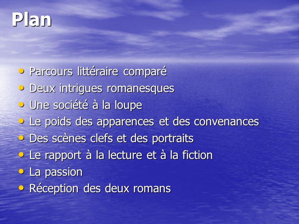 Plan Parcours littéraire comparé Deux intrigues romanesques