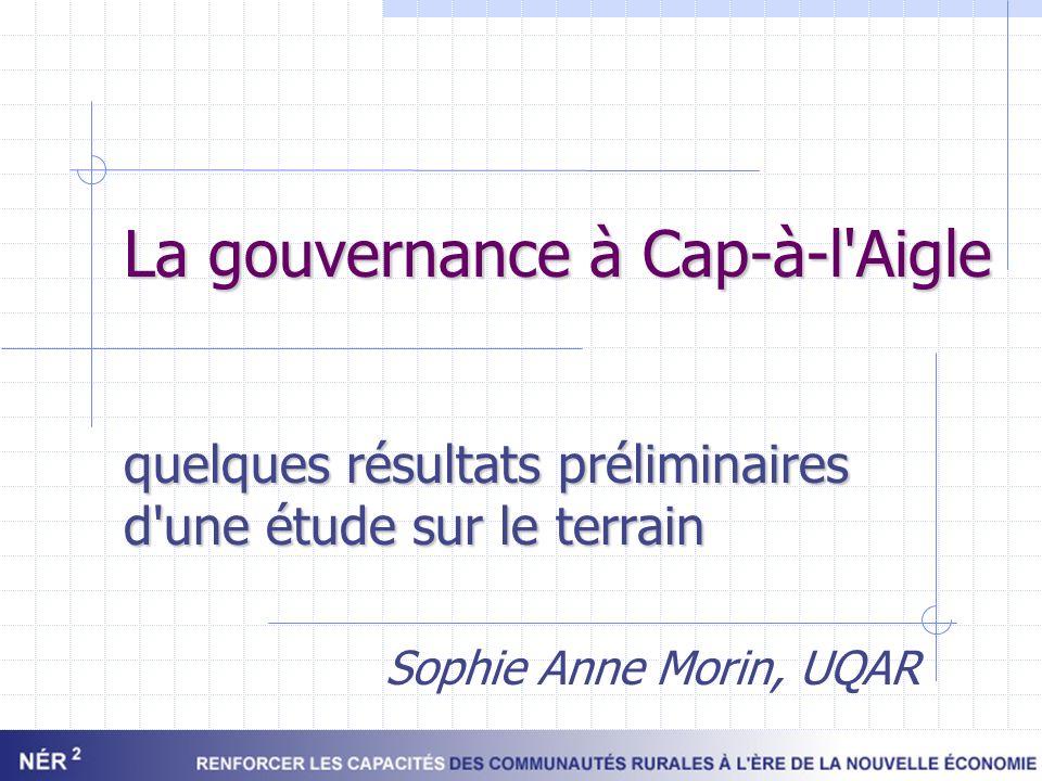 La gouvernance à Cap-à-l Aigle
