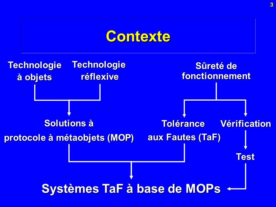 Contexte Systèmes TaF à base de MOPs Technologie à objets