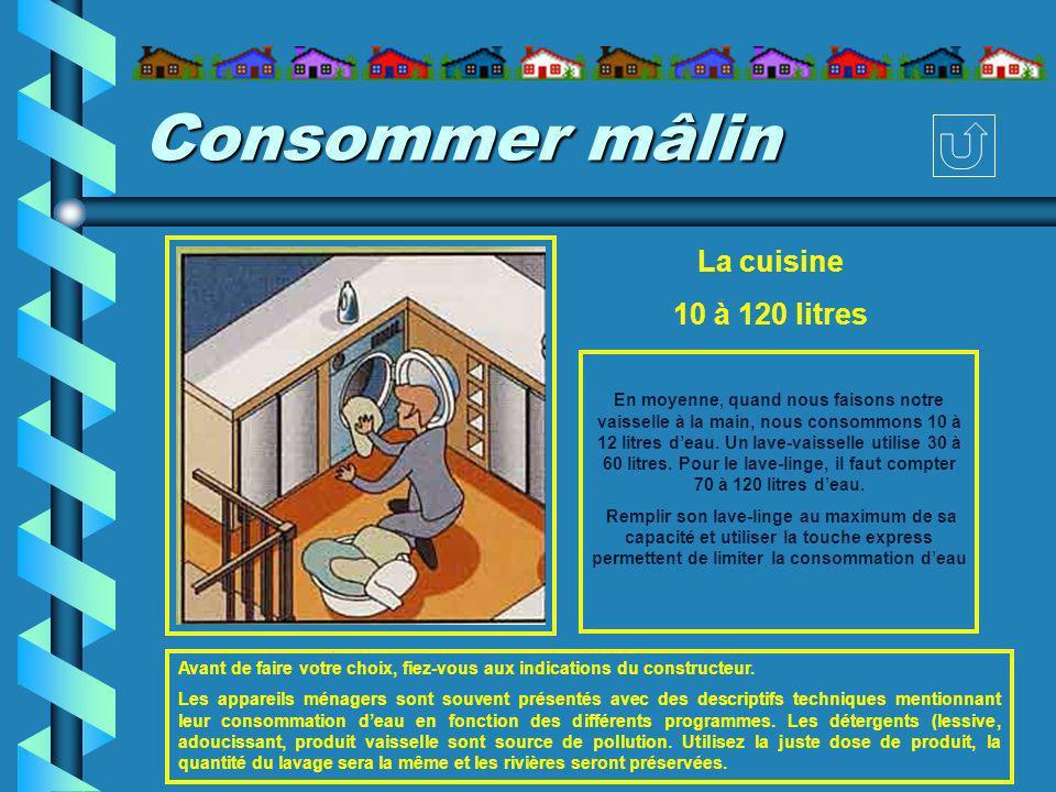 Consommer mâlin La cuisine 10 à 120 litres